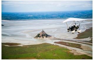 Vol en ULM au-dessus du Mont Saint-Michel