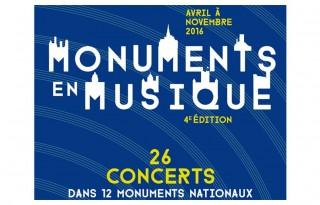 Affiche de Monuments en Musique 2016